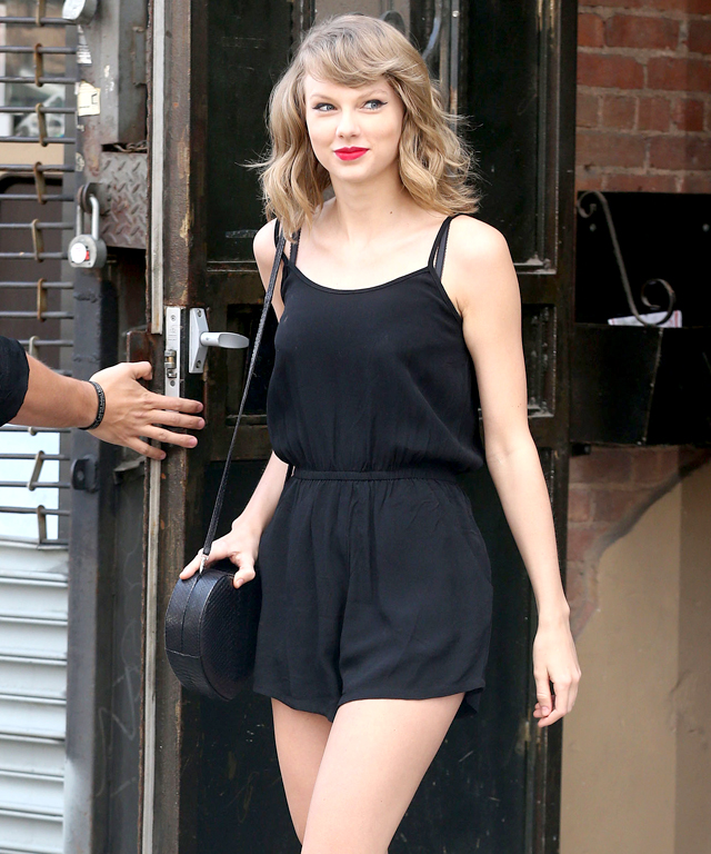 Taylor Swift in MinkPink Romper