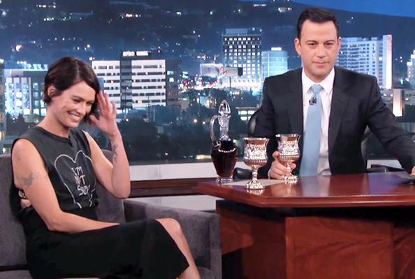 Lena Headey and Jimmy Kimmel