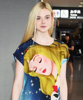 Elle Fanning in Sleeping Beauty Dress