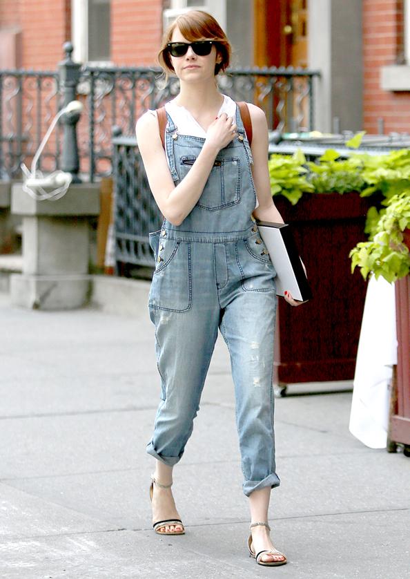 Emma Stone in Overalls