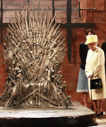 Queen Elizabeth II on Game of Thrones set