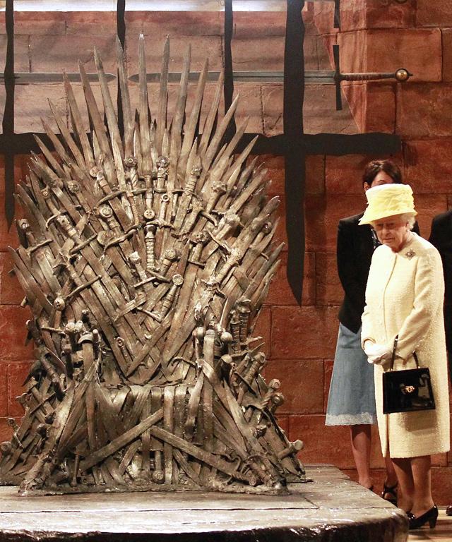 Queen Elizabeth II on Game of Thrones set