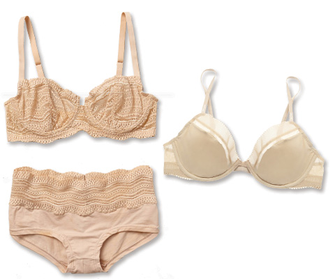 Cabaret-Inspired Nude Lingerie