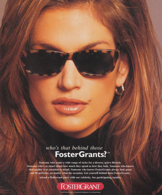 Cindy Crawford for Foster Grant
