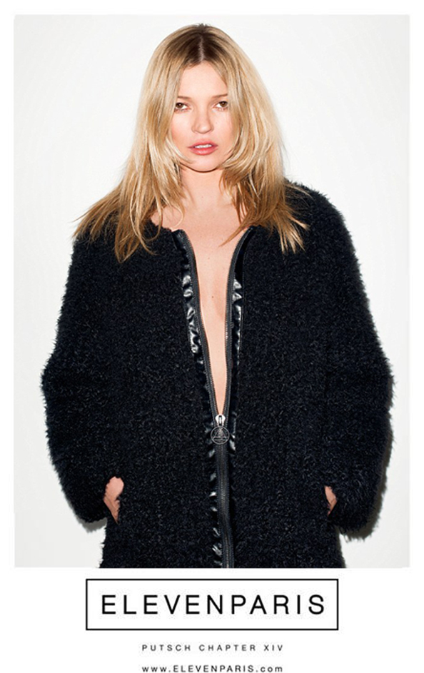 Kate Moss Eleven Paris campaign