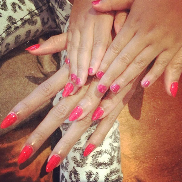 Beyonce and Blue Ivy Manicures