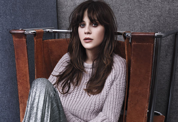 Zoey Deschanel in InStyle's August Issue