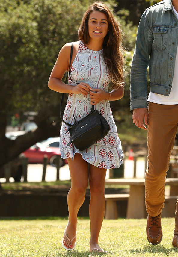 Lea Michele in MinkPink Dress
