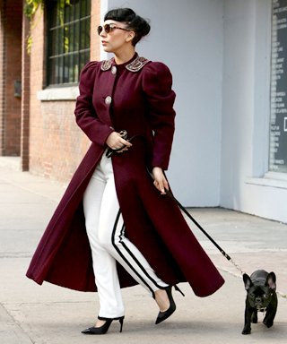 Lady Gaga's Dog-Walking Outfits