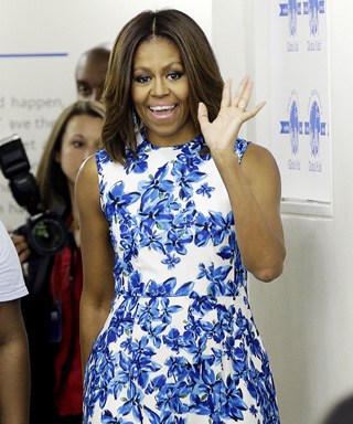 Michelle Obama's Chic Floral Dress Is Inspiring Our Summer Wardrobes
