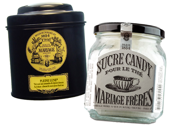 Bastille Day tea and sugar rock candy