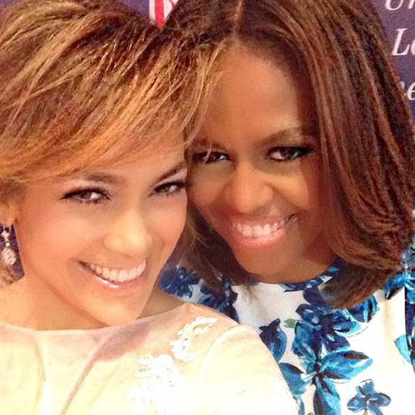 Jennifer Lopez and Michelle Obama