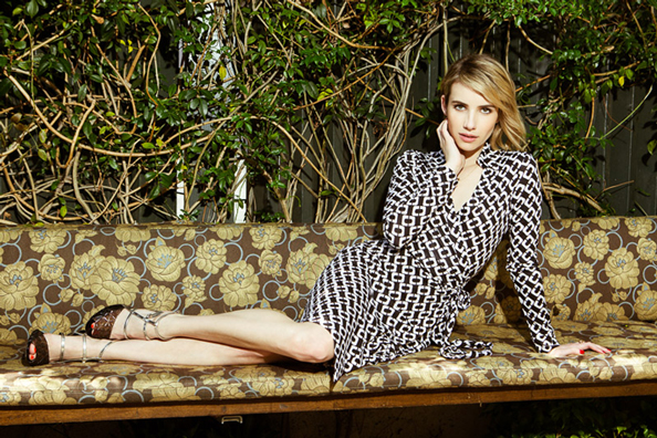 Emma Roberts for Diane von Furstenberg