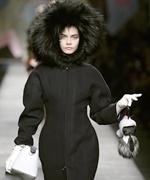 Cara Delvingne for Fendi with Karlito Doll