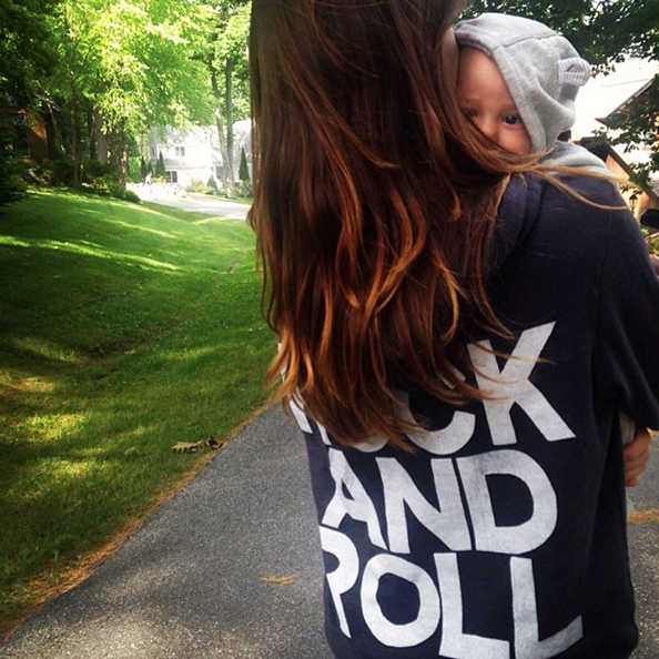 Olivia Wilde and Baby Otis