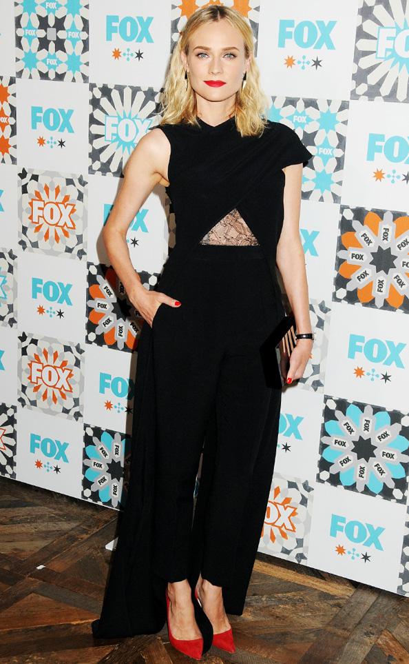 Diane Kruger in Marios Schwab Jumpsuit