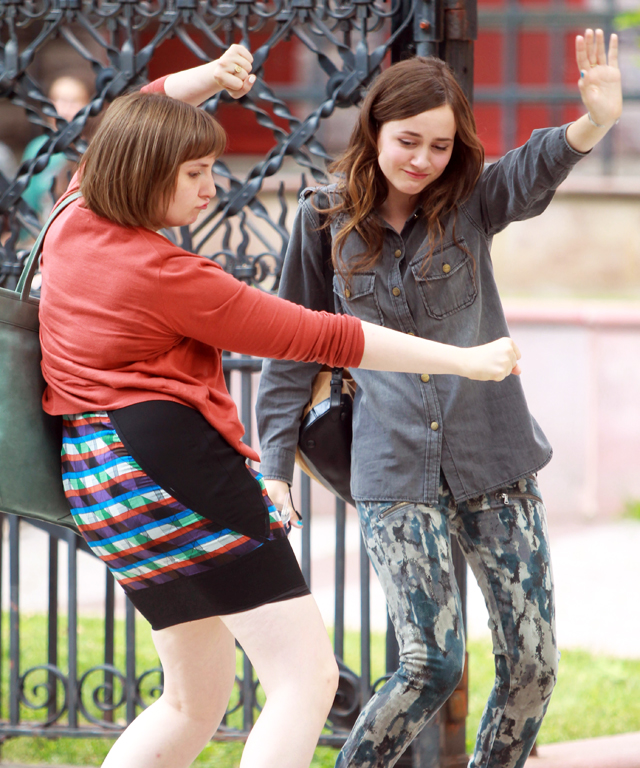 Lena Dunham and Maude Apatow