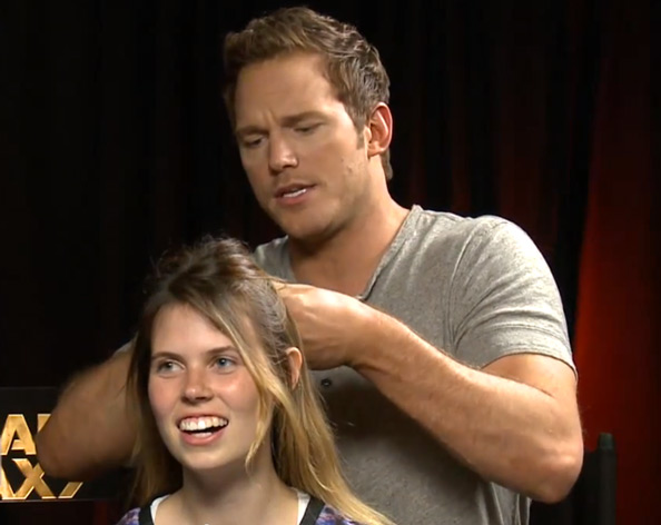 Chris Pratt French Braid