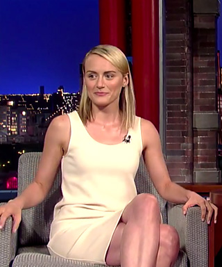 Taylor Schilling on Late Show with Letterman