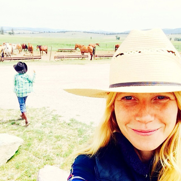 Gwyneth Paltrow Makeup-Free Selfie