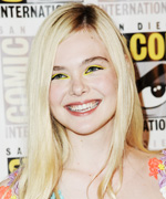 Elle Fanning - Yellow Eye Shadow
