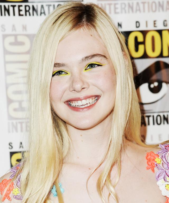 Elle Fanning - Yellow Eye Shadow