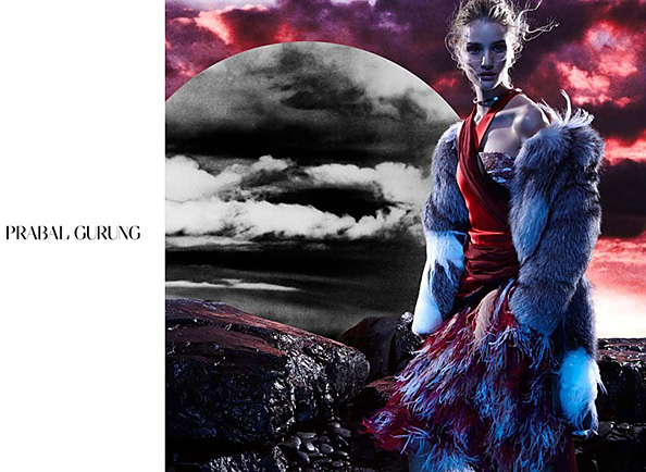 Rosie Huntington-Whiteley in Prabal Gurung's Fall 2014 Campaign