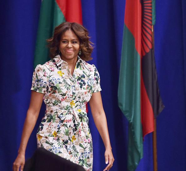 Michelle Obama in Carolina Herrera at the