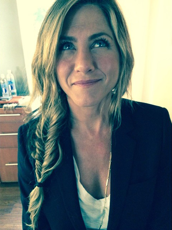 Jennifer Aniston's fishtail braid by Chris McMillan.