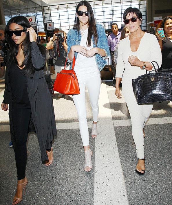 Kim Kardashian, Kendall Jenner, and Kris Jenner