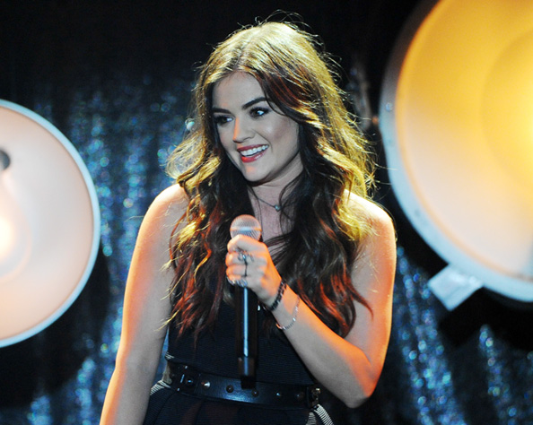 Lucy Hale at iHeartRadio Live Performance