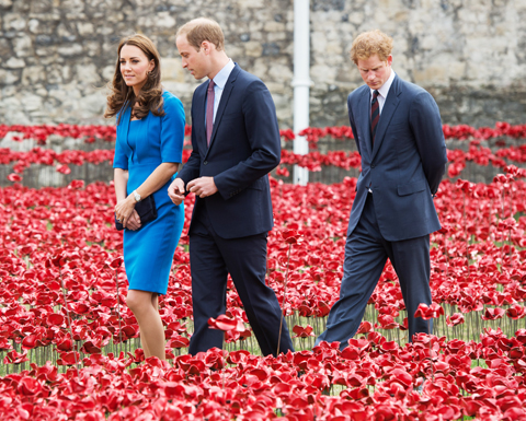Kate Middleton, Prince William, and Prince Harry