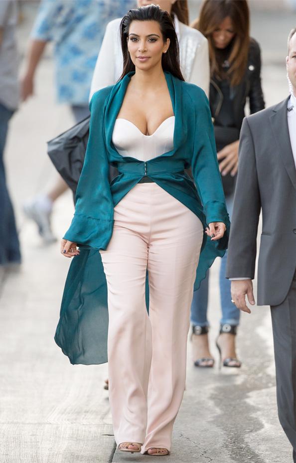 Kim Kardashian visits Jimmy Kimmel Live