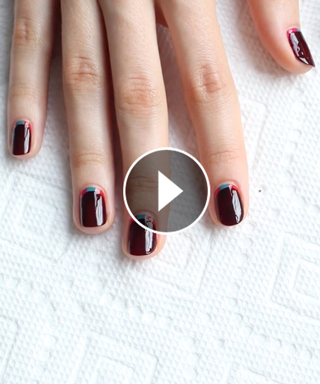 Nail This Look: How to Create This Peekaboo Colorblock Manicure