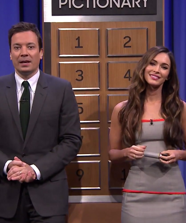 Megan Fox with Jimmy Fallon