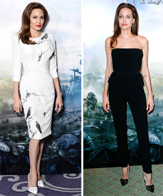 Angelina Jolie in Christian Louboutin Maleficent Heels