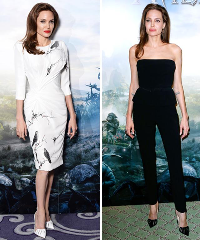 Angelina Jolie in Christian Louboutin Maleficent Heels