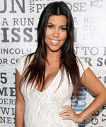 Kourtney Kardashian lace maternity jumpsuit
