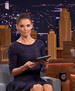Katie Holmes plays Photo Booth with Jimmy Fallon.