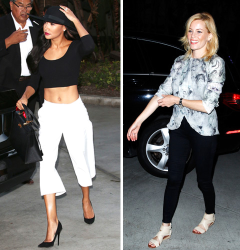 Naya Rivera and Elizabeth Banks