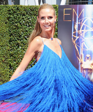 Heidi Klum Whirls and Twirls in the Dress That Everyone Is Talking Abou