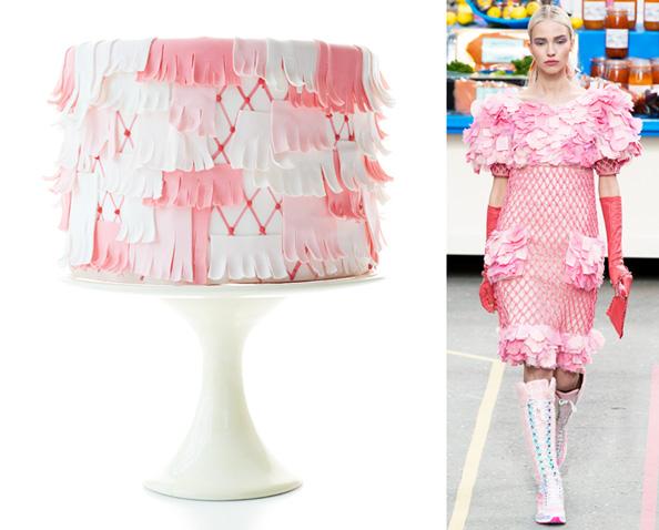 Chanel Fringe Vanilla Cake