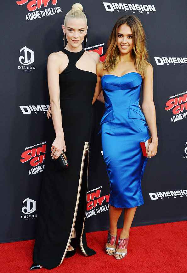 Jaime King and Jessica Alba at Sin City Premiere