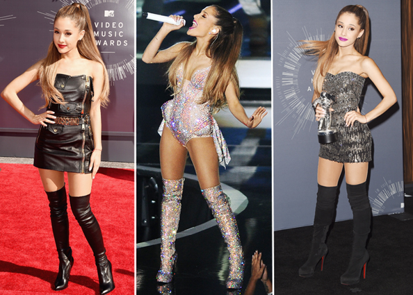 Ariana Grande in Over-the-Knee Boots at MTV VMAs