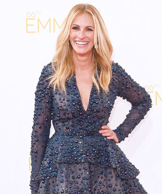 <em>InStyle</em> September Cover Girl Julia Roberts Dazzles at the Emmys in a Bejeweled Minidress