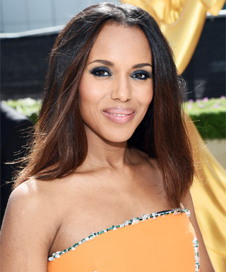 Kerry Washington Debuts Ombré Highlights on the Emmys Red Carpet!
