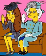 Kate Middleton and Queen Elizabeth as The Simpsons