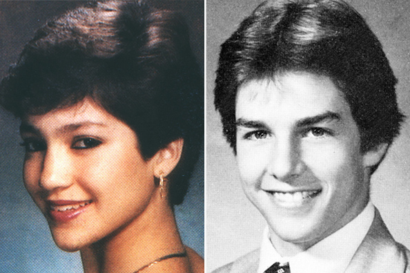 Jennifer Lopez and Tom Cruise in High School