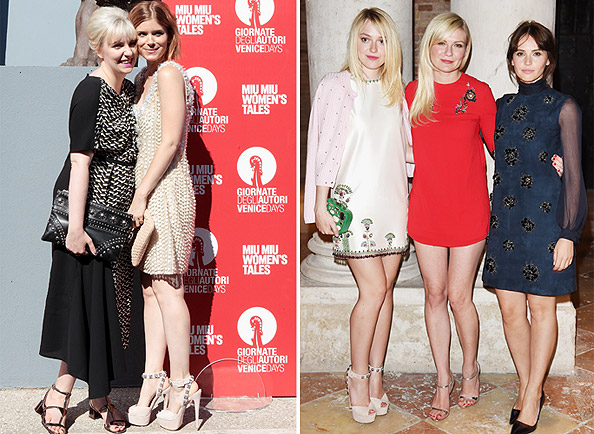 Lena Dunham, Kate Mara, Dakota Fanning, Kirsten Dunst, and Felicity Jones at Miu Miu Women's Tales Premiere