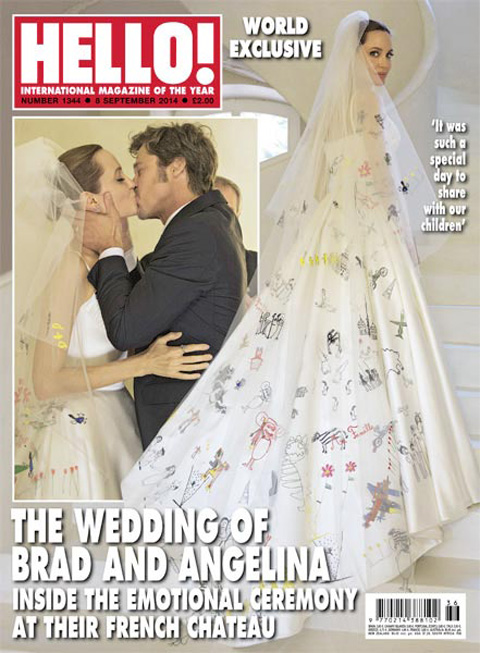 Angelina Jolie Brad Pitt wedding Hello cover